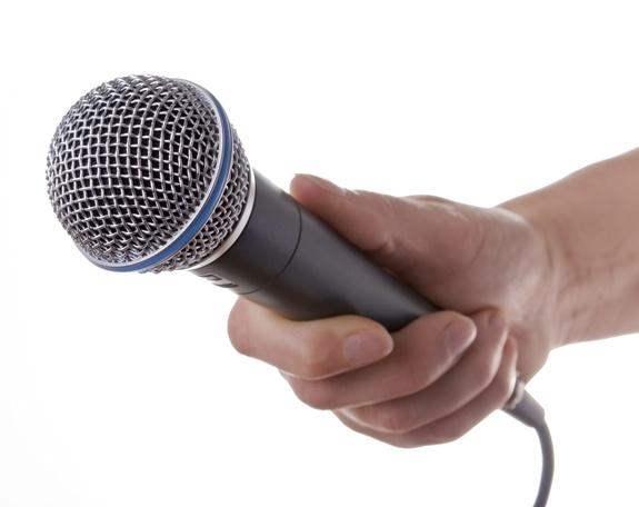Микрофон!