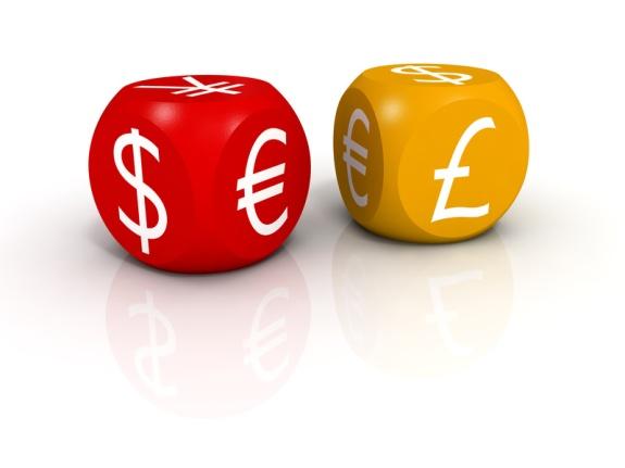 Кубики с обозначениями валют!