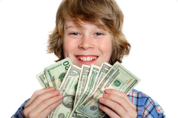 Радость от первых заработанных денег!