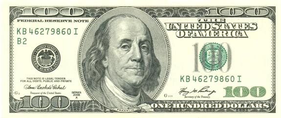 Сто долларов США!