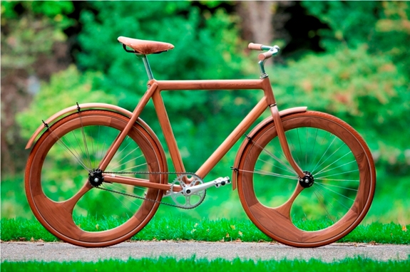 Деревянный велосипед!