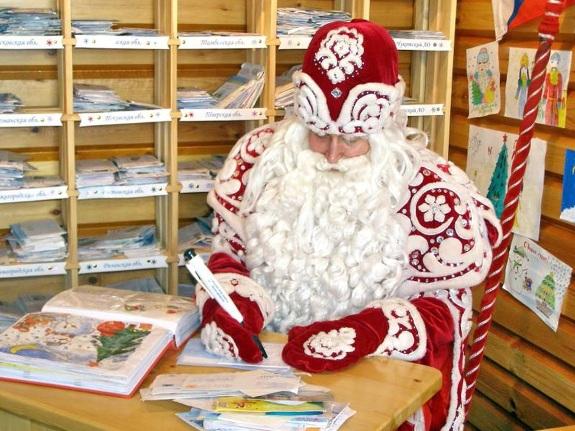 Дед мороз пишет письмо!