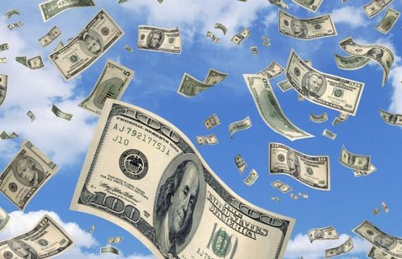 Доллары падают с неба!