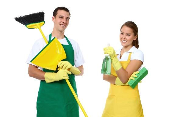 Улыбчивые уборщики!