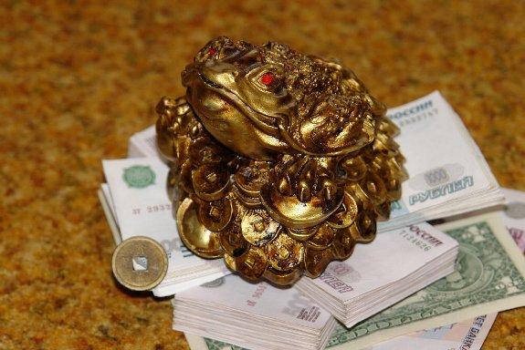 Лягушка на деньгах!