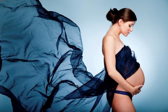 Красивая фотография будущей мамы!